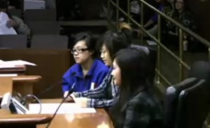 students testifying
